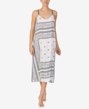 DKNY Printed Sleeveless Nightgown