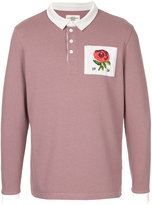 Kent & Curwen rose patch polo top