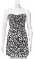 Tory Burch Printed Strapless Top