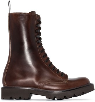 Grenson Leather Lace-Up Ankle Boots