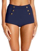 Unique Vintage Women's High-Waist Sailor Short Mrs. Cooper Bikini Bottom