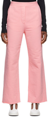 MM6 MAISON MARGIELA Pink French Terry Lounge Pants