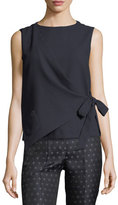 Armani Collezioni Quilted Wrap-Front Sleeveless Top