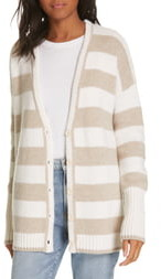 La Ligne Stripe Knit Cardigan