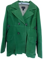 MANGO Green Cotton Jacket for Women