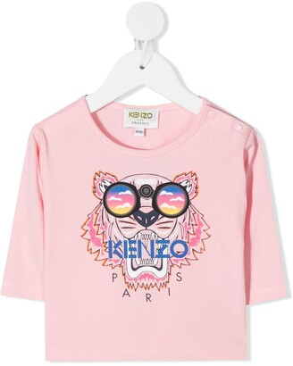 Kenzo Kids Tiger-embroidered T-shirt