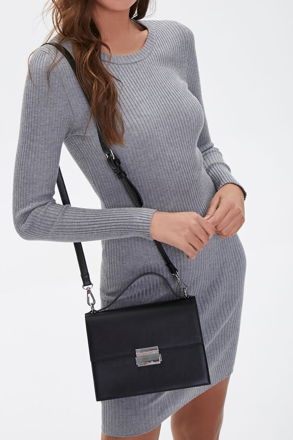 Forever 21 Faux Leather Flap Top Satchel