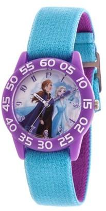 Disney Frozen 2 Elsa and Anna Girls' Purple Plastic Watch, 1-Pack