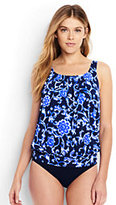 Lands' End Women's Blouson Tankini Top-Deep Sea
