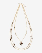 White House Black Market Multi-Strand Red Tiger's Eye Long Necklace