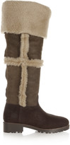 Tory Burch Talouse textured-leather and shearling knee boot