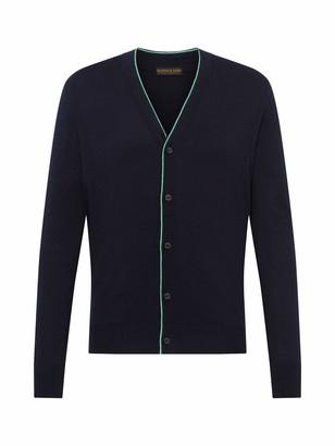 Scotch & Soda Men's Classic Cardigan in Soft Cotton Quality Vest
