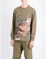 MHI Tiger jungle-print cotton-jersey T-shirt