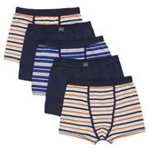 F&F 5 Pack of Striped and Plain Trunks, Boy's