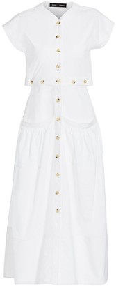 Proenza Schouler Cap Sleeve Buttoned Midi Dress