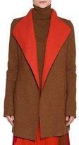 Agnona Platino Light Cashmere Jacket, Brown/Orange