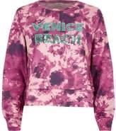 River Island Womens Pink tie dye 'Venice beach' sequin jumper