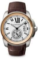 Cartier Calibre de 18K Pink Gold, Stainless Steel & Alligator Strap Watch