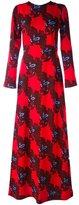 MSGM floral pattern longsleeved dress