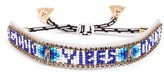 Rebecca Minkoff Women's Good Vibes Only Bead Bracelet