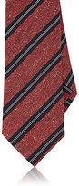 Isaia Men's Striped Necktie-RED