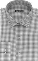"""Kenneth Cole Reaction Unlisted by Men's Slim Fit Check Spread Collar Dress Shirt, Grey, 17""""-17.5""""Neck 34""""-35""""Sleeve"""