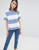 Selected Sisse T-Shirt in Oversized Stripe