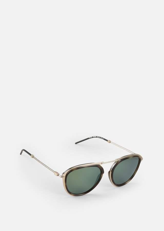 Emporio Armani Metal Sunglasses With Coloured Lenses