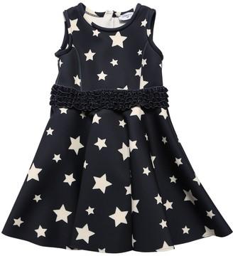 MonnaLisa Star Print Neoprene Dress