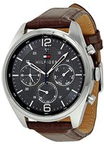 Tommy Hilfiger Men's 1791184 Sophisticated Sport Watch With Brown Leather Band