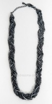 eDressMe One Size Grey Metal Braided Necklaces