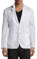 CNC Costume National Notched-Lapel Two-Button Jacket, White