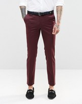 Noose & Monkey Suit Trousers With Stretch And Contrast Piping In Super Skinny Fit