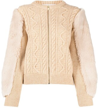 Stella McCartney Cable-Knit Zipped Cardigan