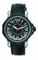 Hypnos Gio Monaco Men's 671-A Automatic Black Dial Alligator Leather Watch