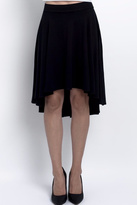 DEVINTO Black Skater Midi Skirt