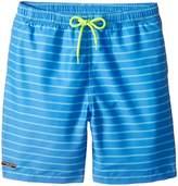 Toobydoo Aqua Blue Pinstripe Swimsuit - Short (Infant/Toddler/Little Kids/Big Kids)