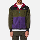 Billionaire Boys Club Men's Panelled Sherpa Fleece Zip Through Jacket