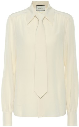 Gucci Silk shirt with tie