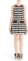 MSGM Women's Stripe Fit & Flare Dress