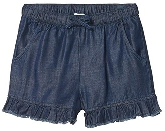 Splendid Littles Denim Ruffle Shorts (Big Kids) (Dark Stone) Girl's Shorts