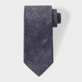 Paul Smith Men's Black 'Floral Petals' Embroidered Silk Tie
