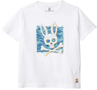 Psycho Bunny Kids Printed Tee (Toddler/Little Kids/Big Kids) (White) Boy's Clothing
