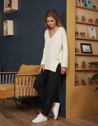 Harris Wilson Nude Alpaca Jumper By At The Voewood - XL - White/Natural