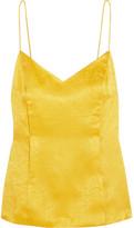 Topshop Unique - Floral Fatale Silk-jacquard Camisole - Yellow