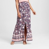 Knox Rose Women's Printed Button Front Maxi Skirt