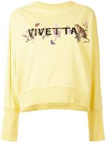 Vivetta - printed sweatshirt - women - Cotton/Spandex/Elastane - 38