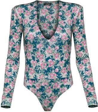 AFRM Sybil Long Sleeve Thong Bodysuit