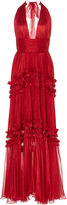 Maria Lucia Hohan Kalina Pleated Halter Gown