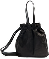 Yohji Yamamoto drawstring shoulder bag - men - Horse Leather/Canvas - One Size